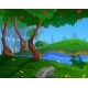 Cartoon Summer Background for a Game Art