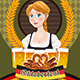 Oktoberfest Poster With Bavarian Woman - GraphicRiver Item for Sale