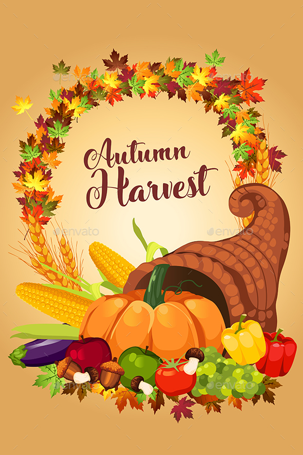 GraphicRiver Autumn Harvest Poster 20535367