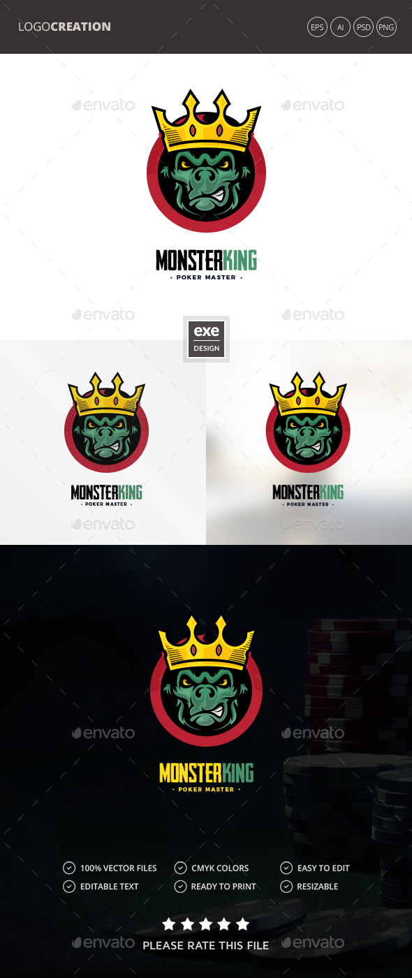 Monster King Logo - Vector Abstract