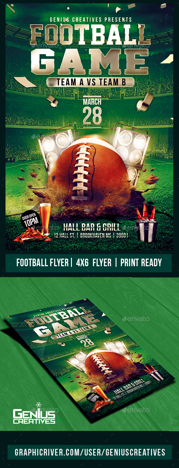 GraphicRiver Football Game Flyer Psd 20535468