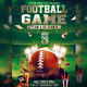 Football Game Flyer Psd