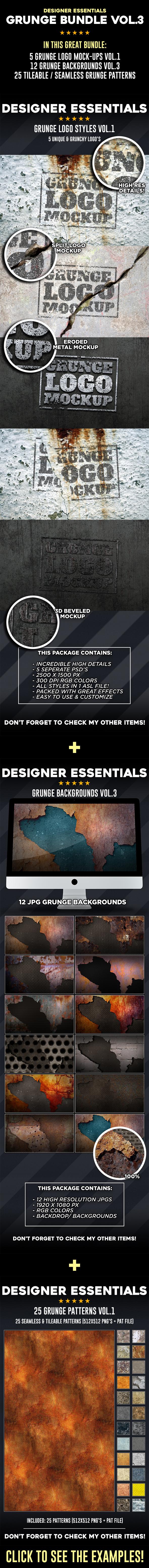 Grunge Bundle Vol.3 - Photoshop Add-ons