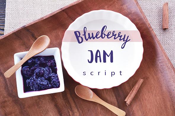 Blueberry Jam Script - Script Fonts