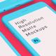 High Resolution Matte Mockups