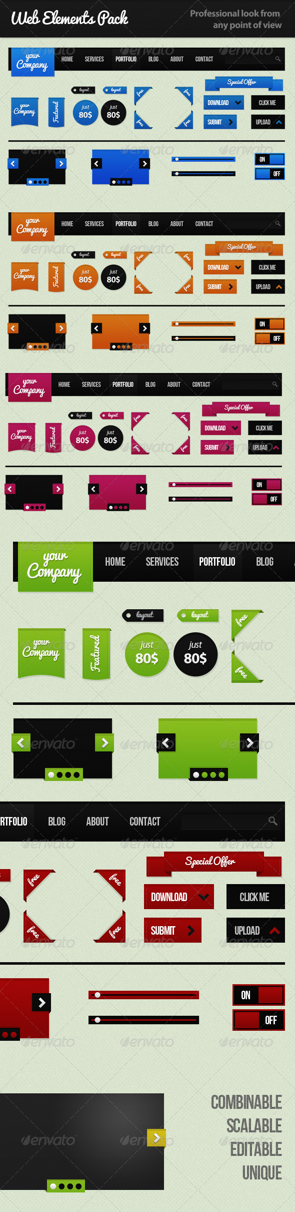 Web Elements Pack - Miscellaneous Web Elements