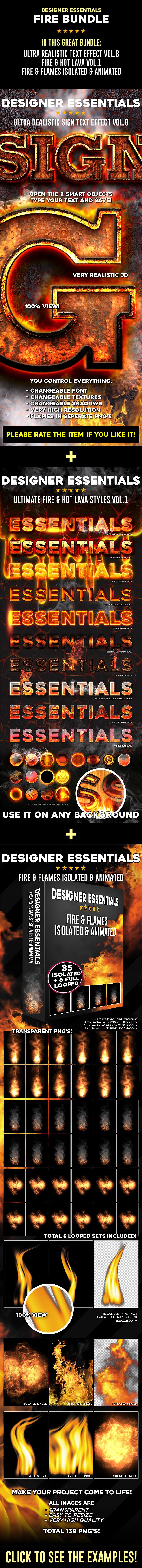 Fire Bundle Vol.1 - Actions Photoshop