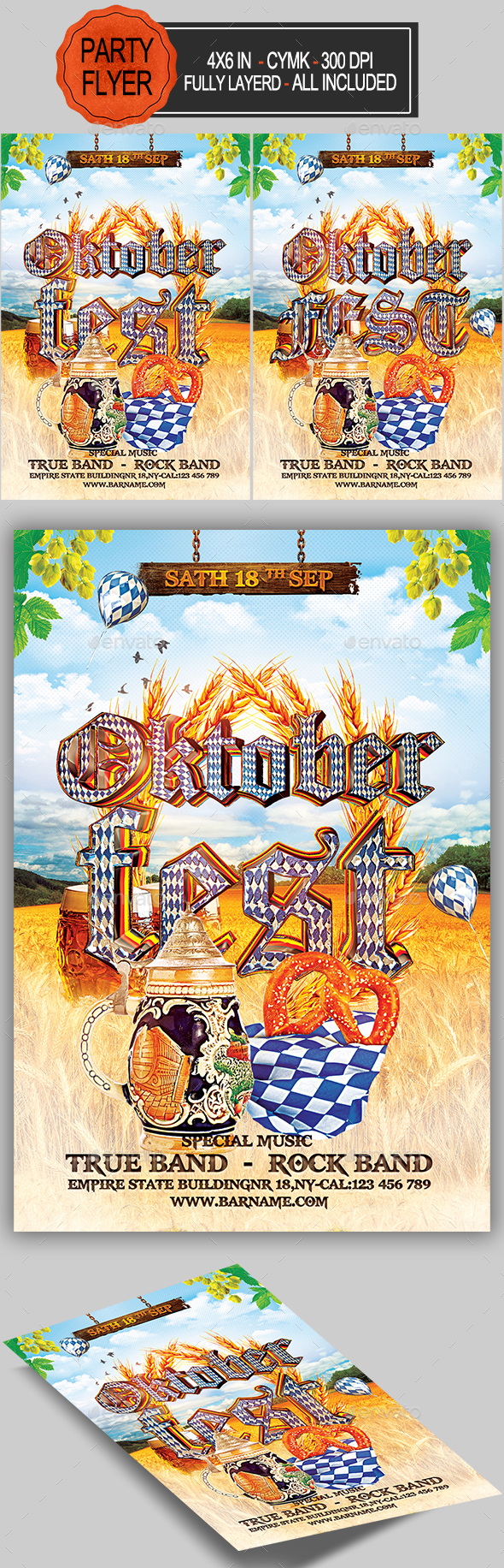 GraphicRiver Oktoberfest Flyer 20535964