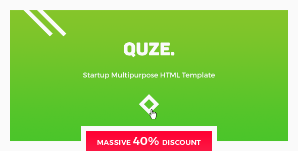 Image of QUZE - Startup HTML Template