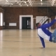 B-boy Dancing in Sport Gym - VideoHive Item for Sale