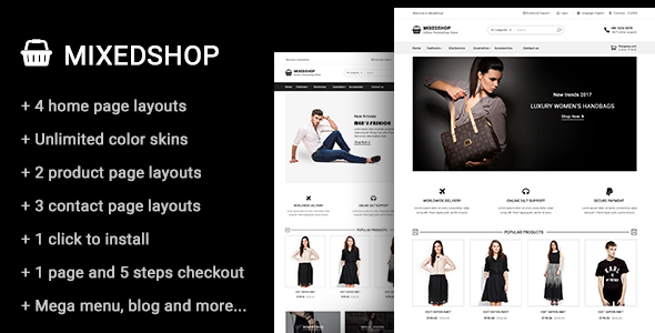 Image of Mixedshop - Multipurpose Prestashop Theme