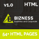 bizness - Business and Corporate HTML5 Template