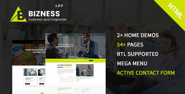 bizness - Business and Corporate HTML5 Template - Business Corporate