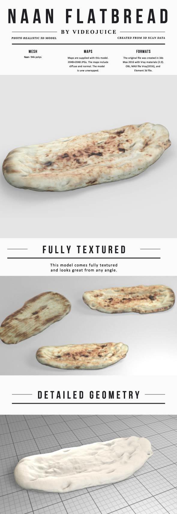 Naan Flat Bread - 3DOcean Item for Sale