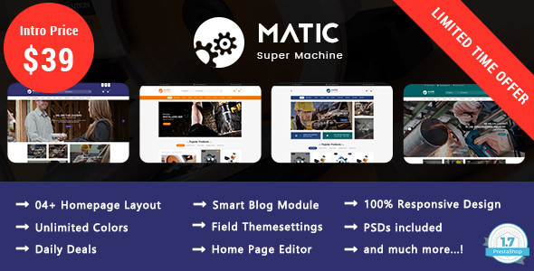 Matic - Super Machine Responsive Prestashop 1.7 Theme