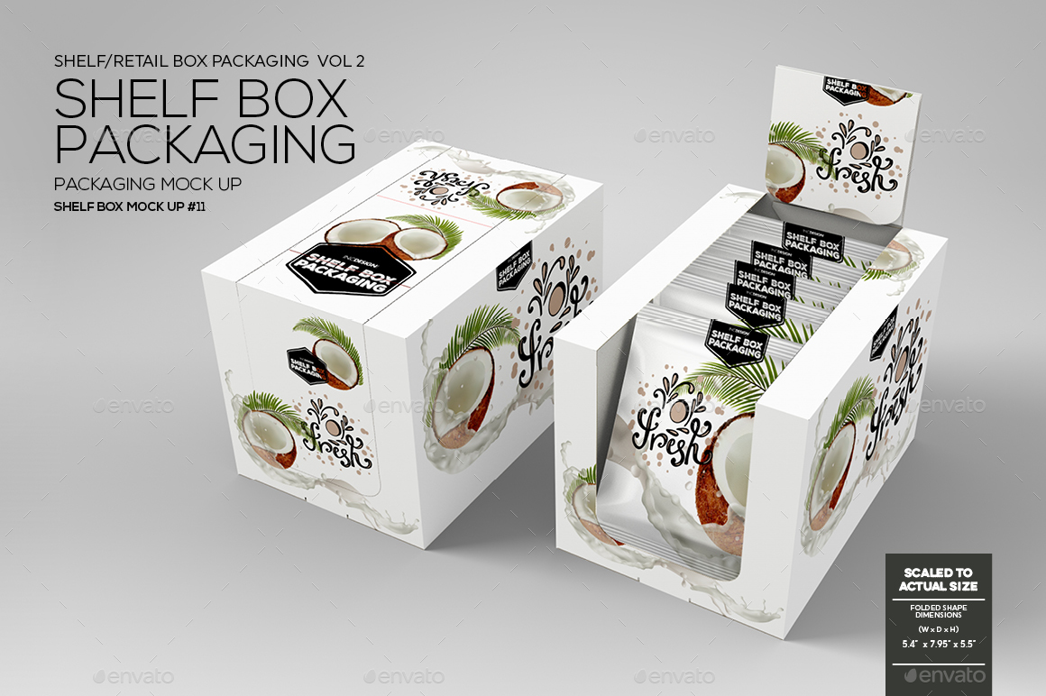 Retail Shelf Box Packaging Mockup No 11 By Incybautista Graphicriver