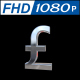 Pound Sign in Silver With 360 Rotation