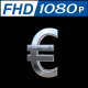 Euro Sign in Silver With 360 Rotation