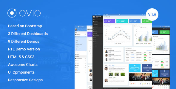 ThemeForest Ovio Bootstrap Based Responsive Dashboard Admin Template 20536242