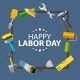 Happy Labor Day Poster Vector Illustration - GraphicRiver Item for Sale