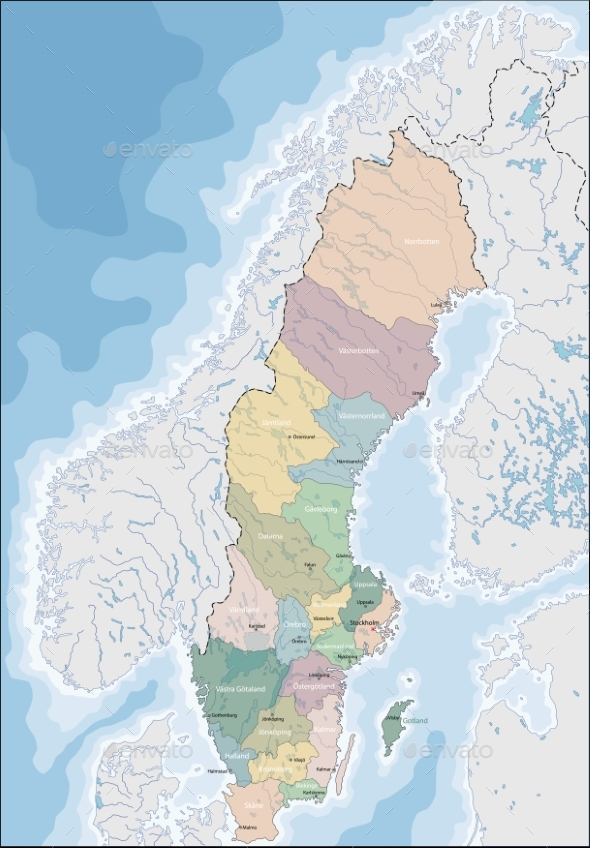GraphicRiver Map of Sweden 20536515
