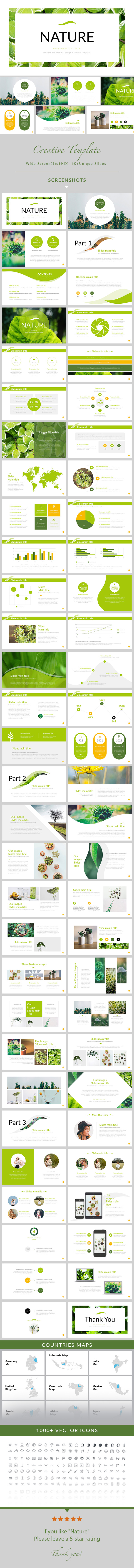 Nature - Simple Creative PowerPoint Template - Creative PowerPoint Templates