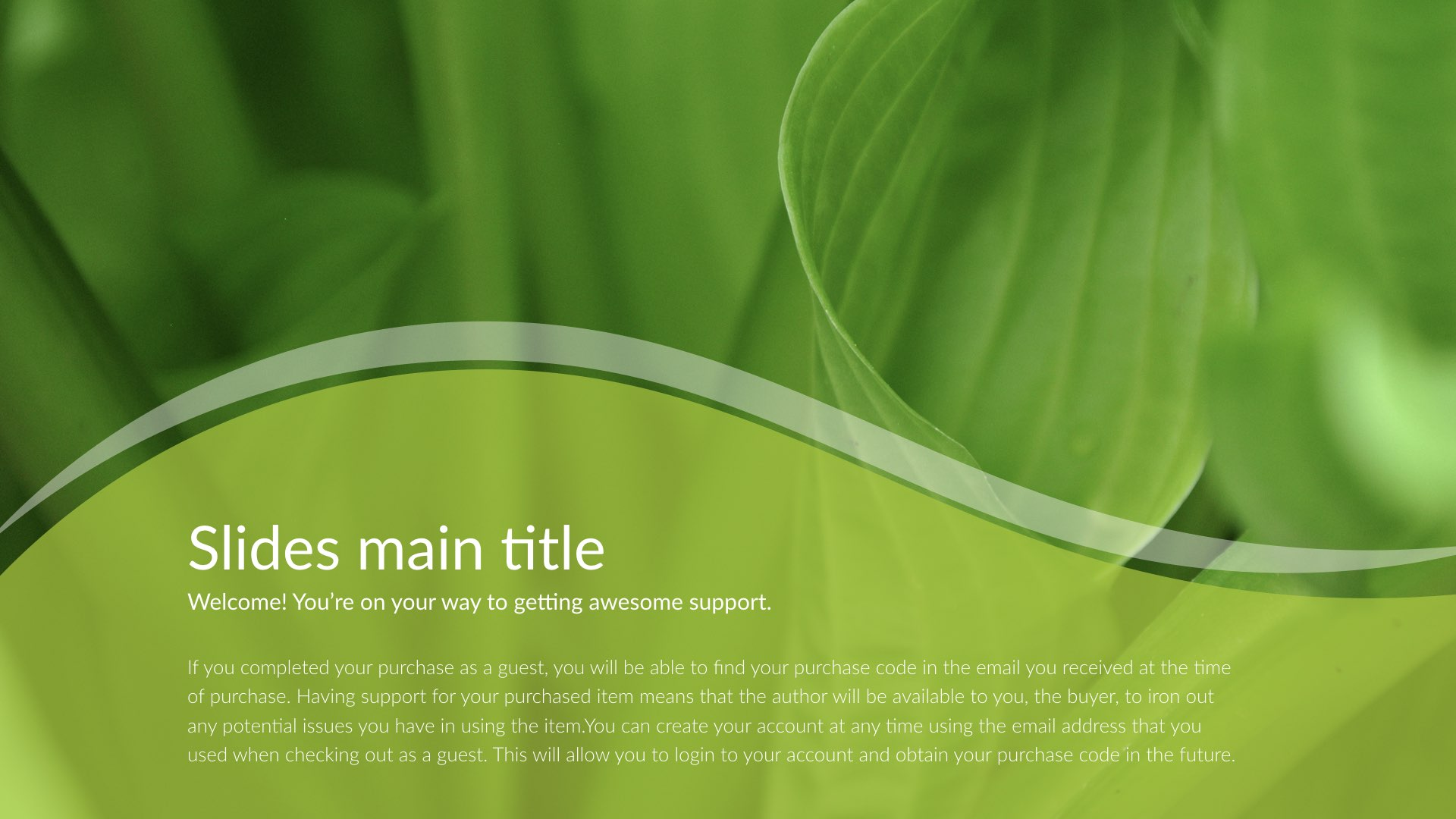 Nature Simple Creative Powerpoint Template By 5yue Graphicriver