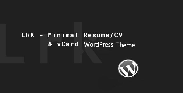 LRK - Creative vCard WordPress Theme - Portfolio Creative