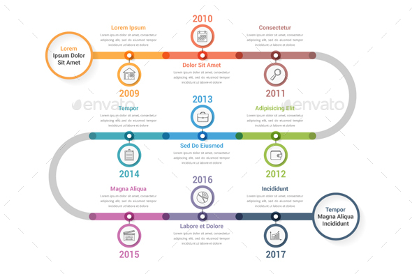 GraphicRiver Timeline Infographics 20536542