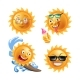 Sun with Different Faces Isolated