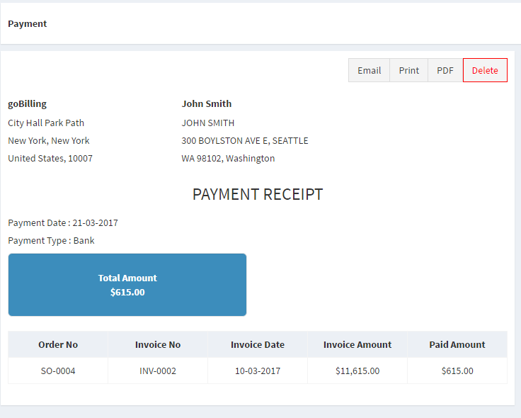 Usps Electronic Return Receipt Pdf Gobilling  Invoicing Billing  Accounting System By Techvillage Sample Invoice Copy Word with Paypal Invoice Buyer Protection Excel  Screenshotcustomerpng Screenshotcompanysettingspng  Screenshotcustomeemailpng Screenshotpdfinvoicepng  Current Invoice Pdf