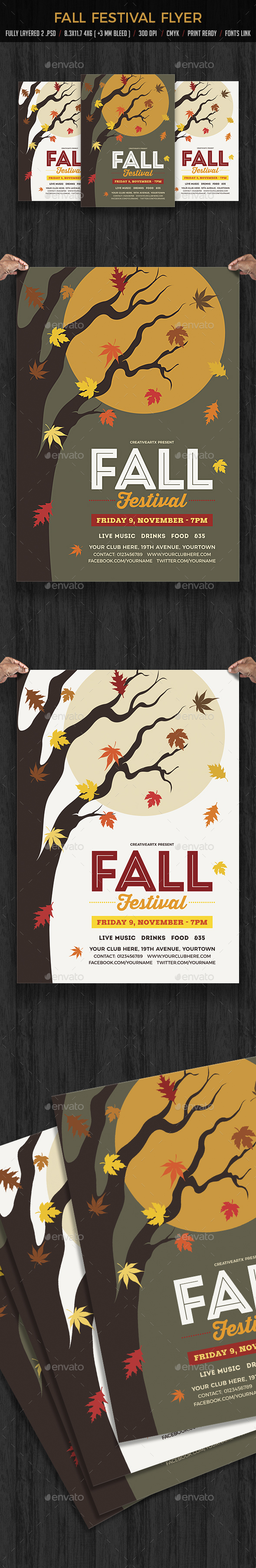 Fall Festival Flyer Template - Events Flyers