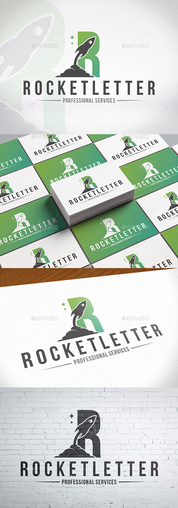 Rocket Letter R Logotype - Letters Logo Templates