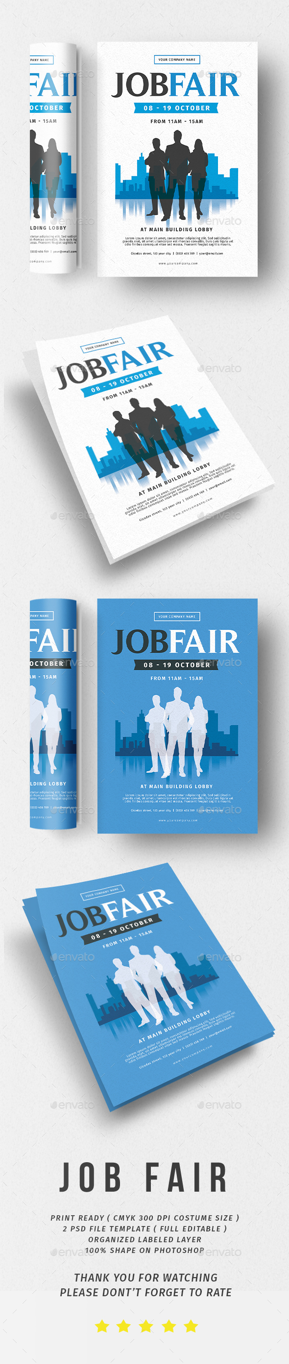 Job Fair Flyer - Flyers Print Templates