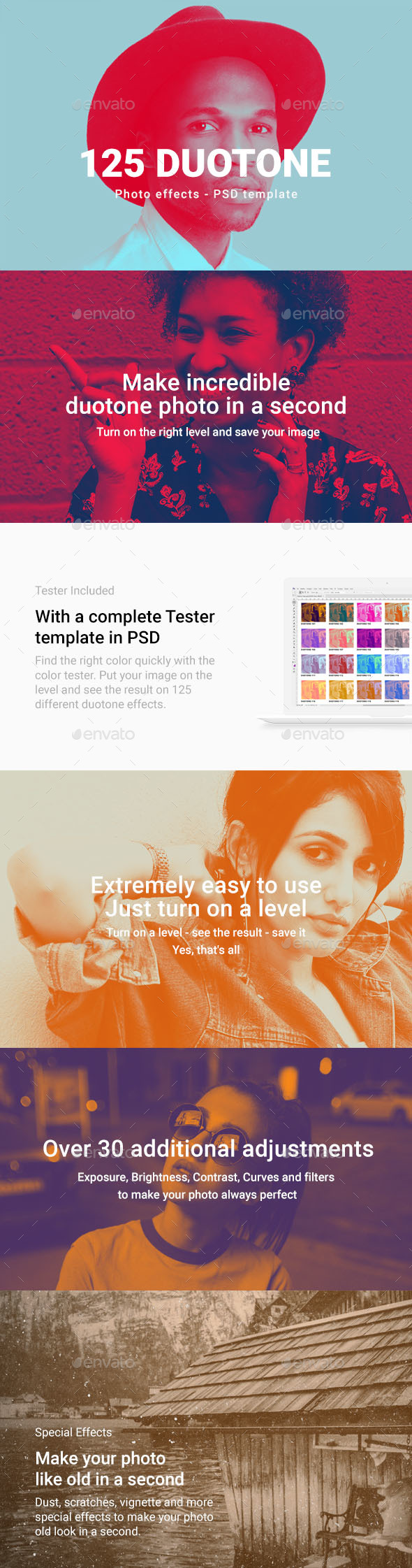125 Duotone Color Effects Template - Urban Photo Templates