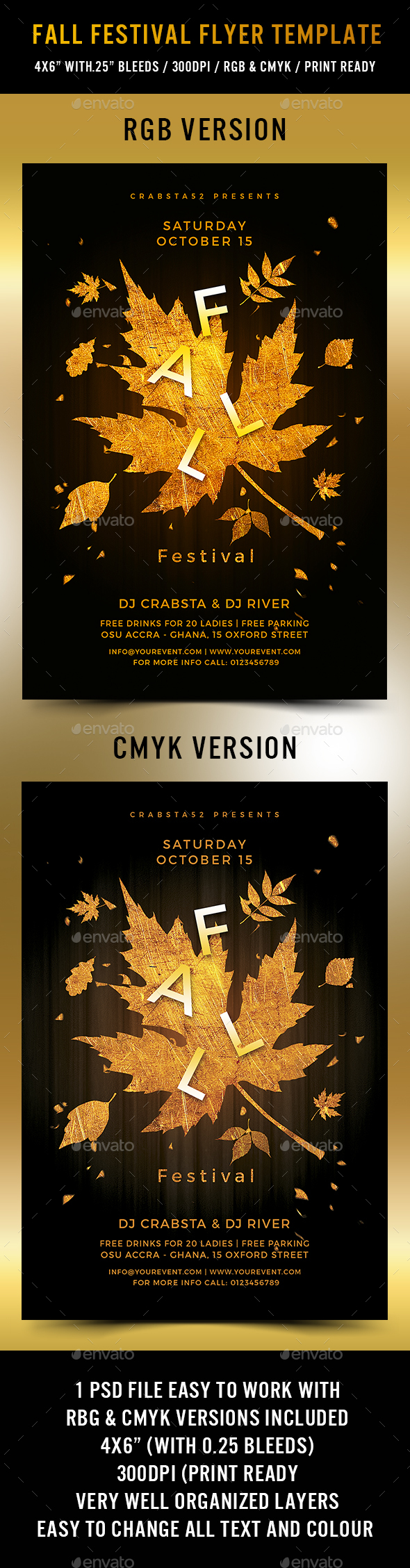 fall festival flyer template by crabsta52 graphicriver. Black Bedroom Furniture Sets. Home Design Ideas