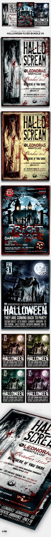 Halloween Flyer Bundle V6 - Holidays Events