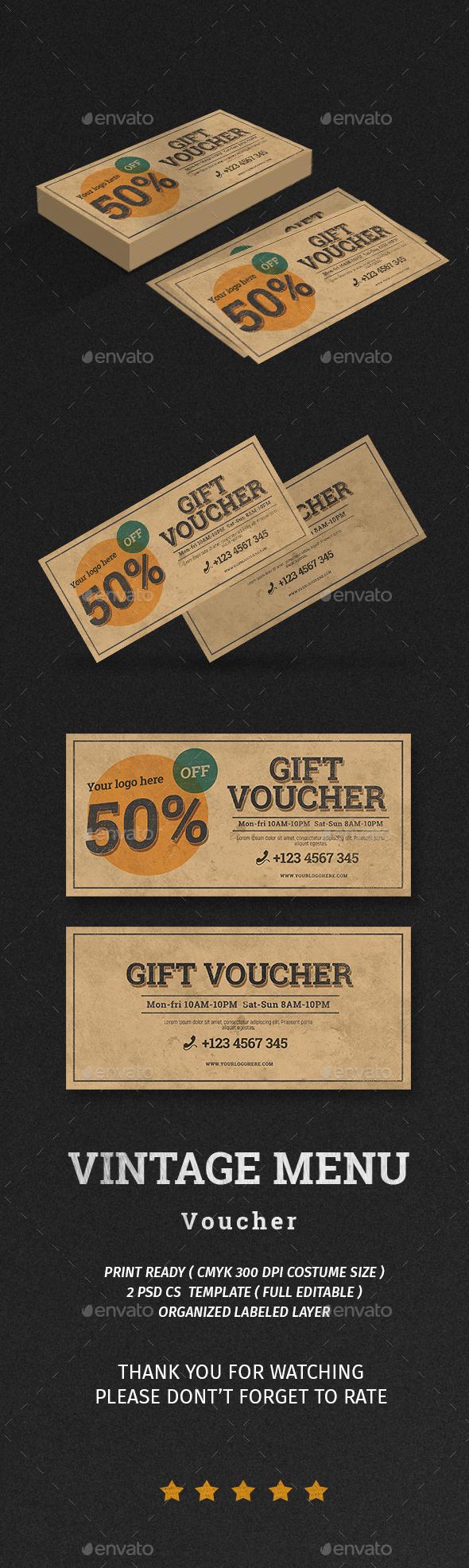 Vintage Voucher - Print Templates