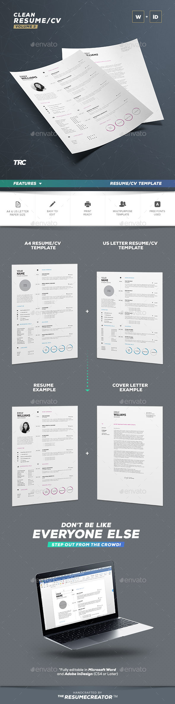 Clean Resume Vol. 3