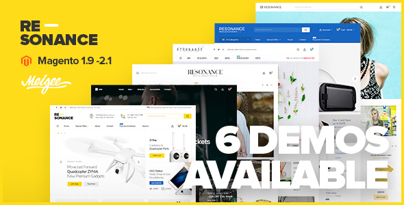 Resonance - Multi-Purpose Responsive Magento 2.2 and Magento 1 Theme