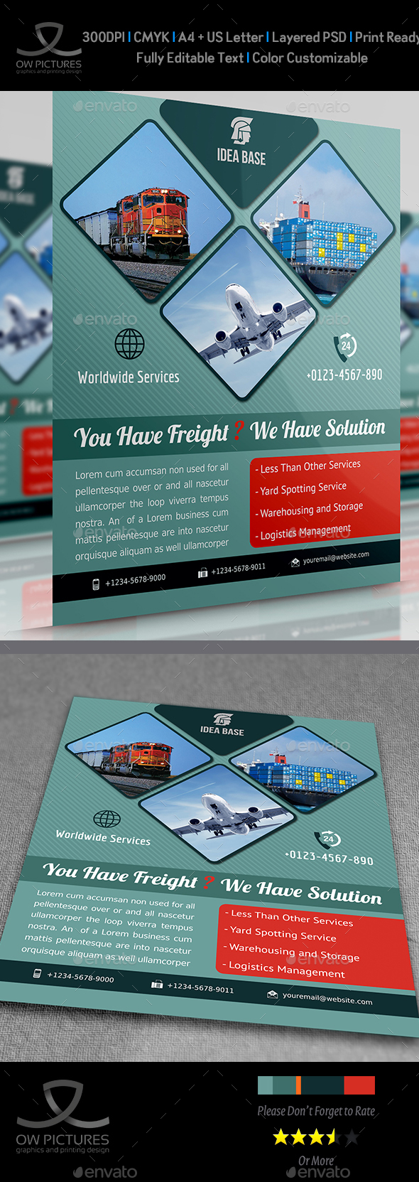 Freight / Shipment Services Flyer - Corporate Flyers