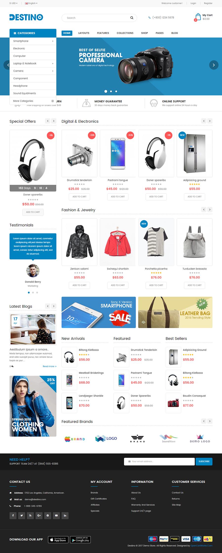 Destino - Responsive & Multi-Purpose HTML5 Template by magentech ...