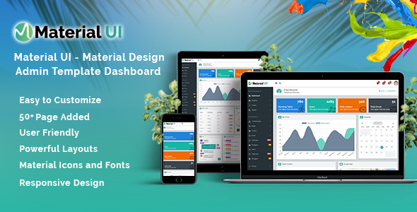 Material UI – Material Design Admin Template Dashboard            nulled