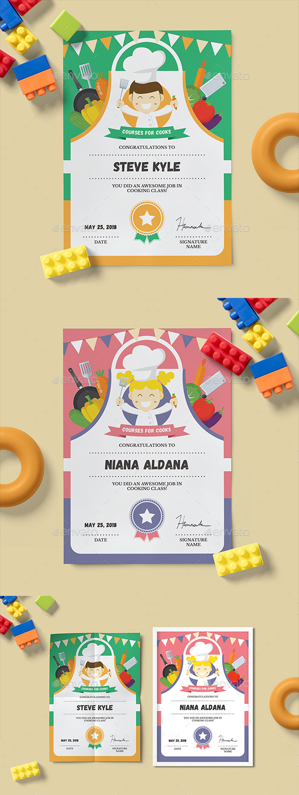 Cooking Class Certificate - Certificates Stationery