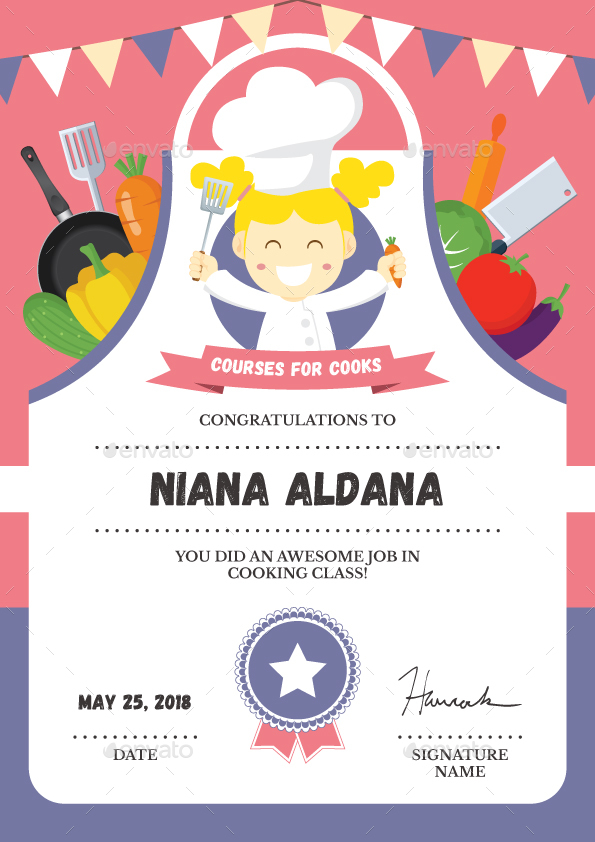 Cooking Class Certificate by bigmidin   GraphicRiver