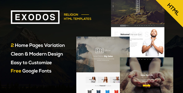 Exodos - Church HTML Template - Churches Nonprofit