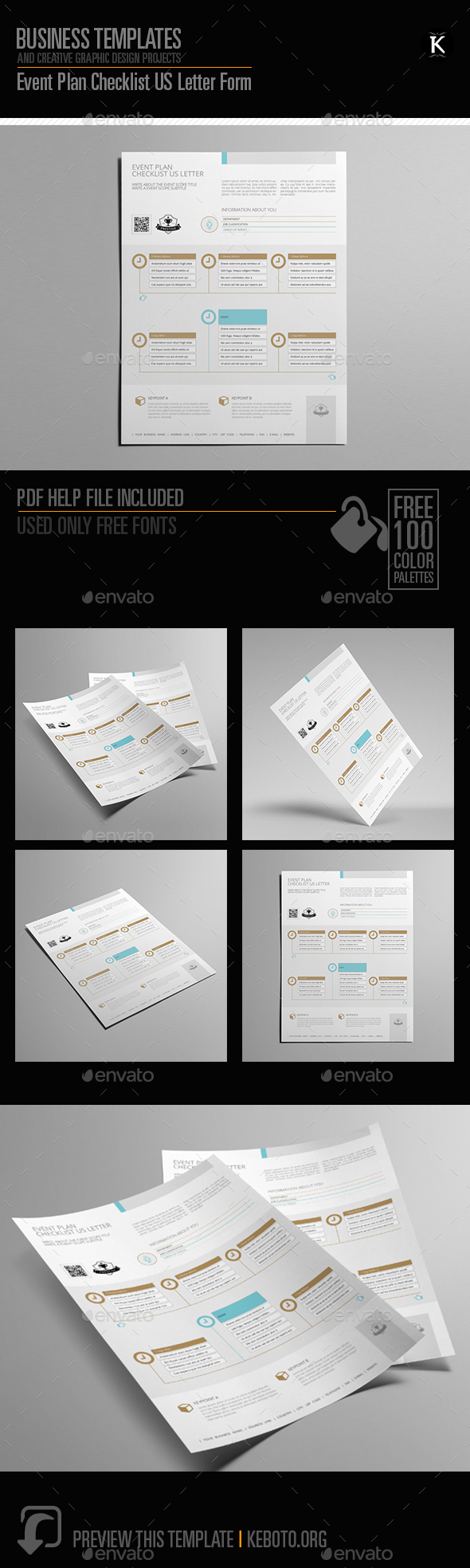 Event Plan Checklist US Letter Form - Miscellaneous Print Templates