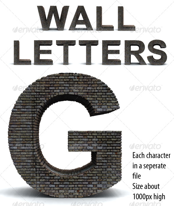 Wall Letters - Miscellaneous Backgrounds