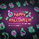 Halloween Neon Icons - GraphicRiver Item for Sale