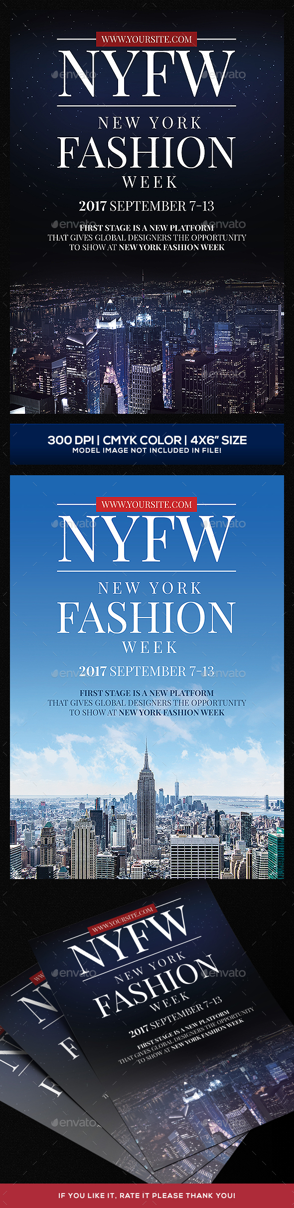 New York Fashion Show Flyer - Clubs & Parties Events